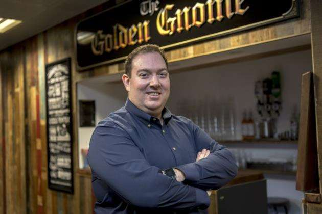Jagexs CEO Phil Mansell at the companys in-house bar. Picture: Keith Heppell