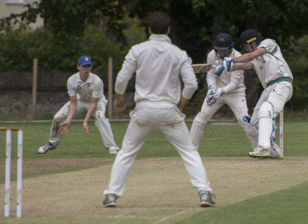 Burwell v Cambridge Granta - Burwell Cricket Club, Tan House La, Burwell, (Granta fielding), . Picture: Keith Heppell