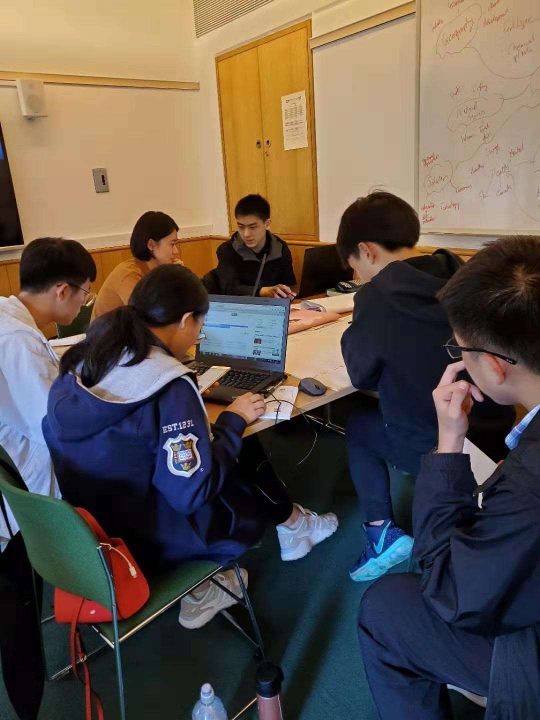 The Chinese students hard at work at Fitzwilliam College, Cambridge