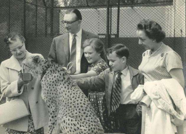 Tony Whitten as a child at London Zoo with parents John and Mollie plus sister. Picture: Andy Whitten
