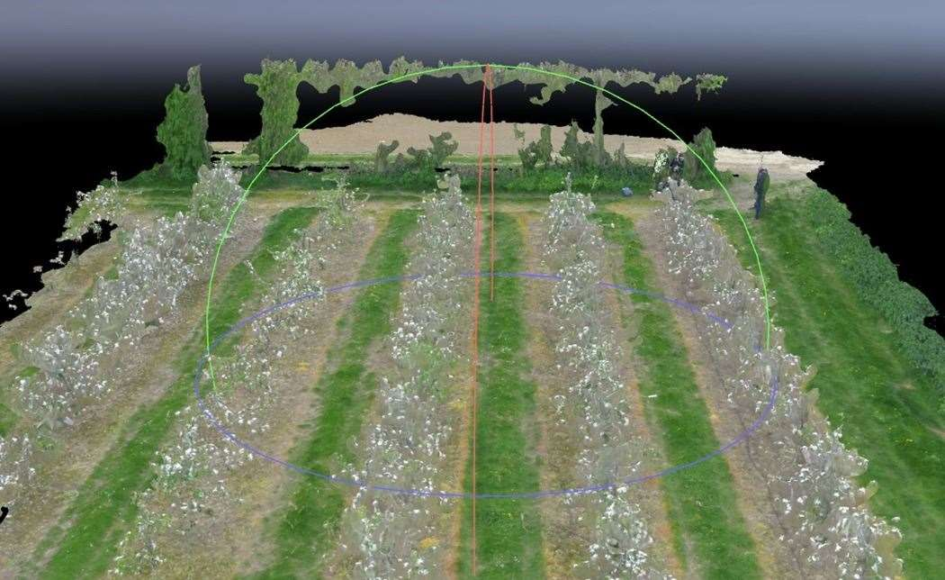 3D orchard computer model is part of Outfield Technologies' platform