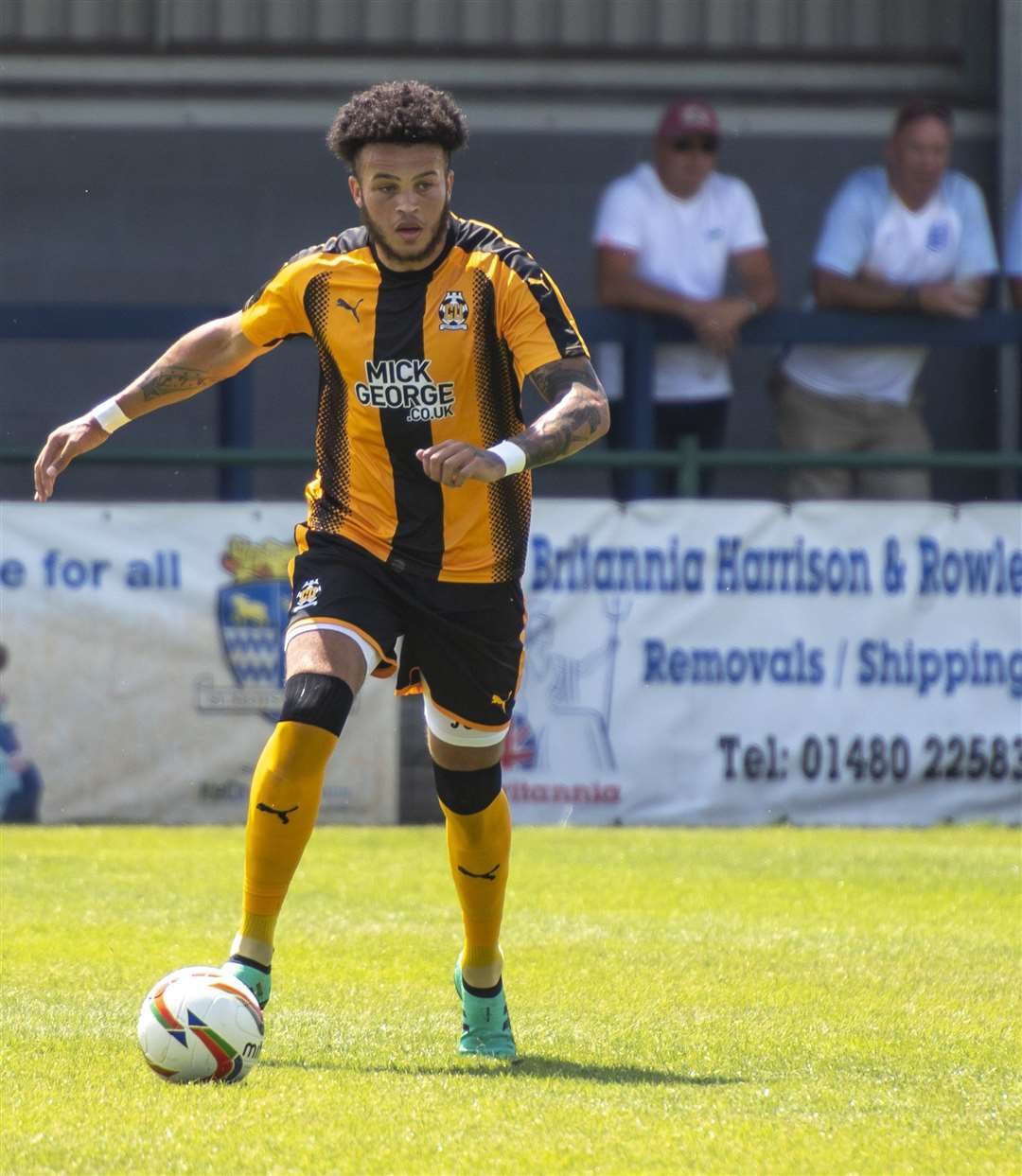 Louis John was a second-half substitute for Cambridge United at Bury. Picture: Keith Heppell