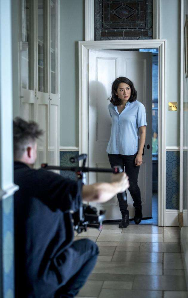 George Henry Horton filming Ground Floor in Cambridge starring Stacy Chu. Picture: Keith Heppell