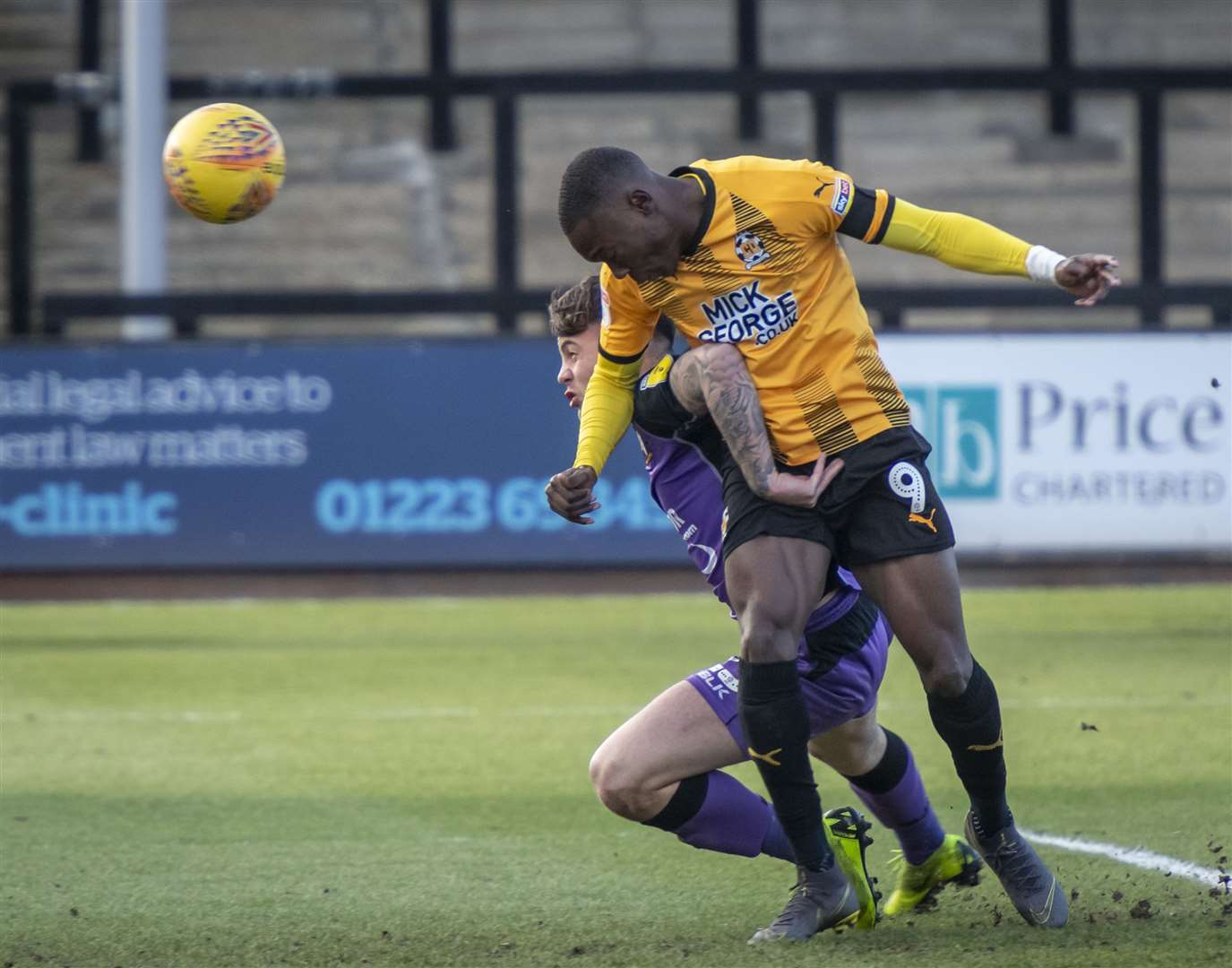 Rushian Hepburn-Murphy is a fitness doubt for Cambridge United's home game with Colchester United. Picture: Keith Heppell