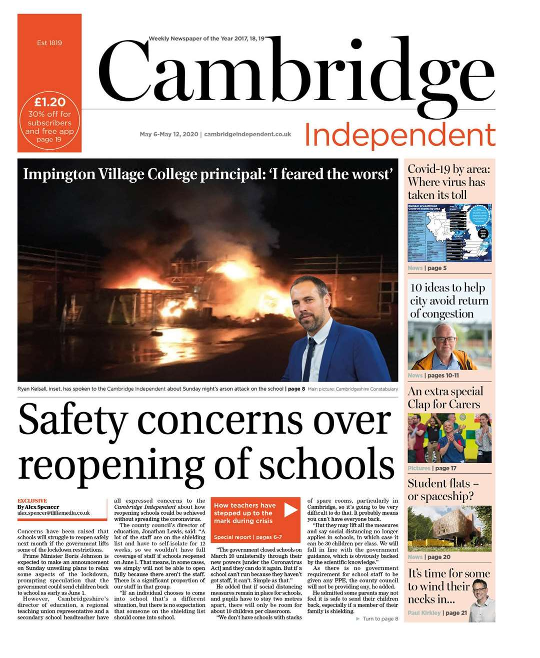 The Cambridge Independent front page of May 6-12 (34434526)