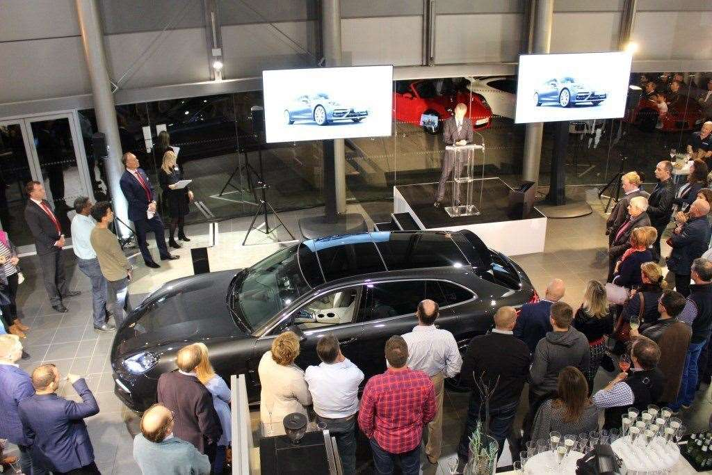 The launch of the Porsche Panamera Sport Turismo in Harston in October 2017