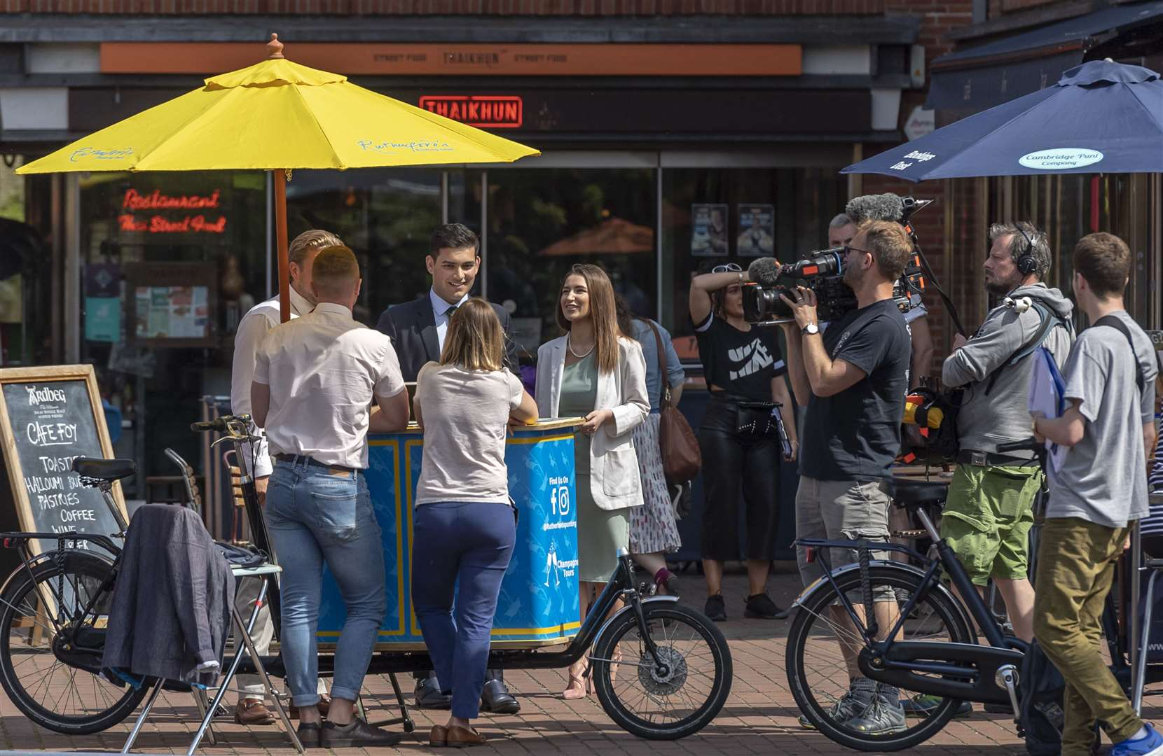 The Apprentice 2019 films in Quayside, Cambridge. Picture: Keith Heppell
