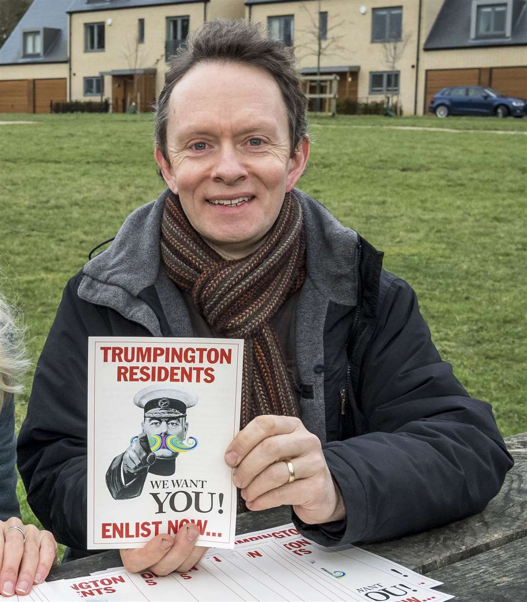 Patrick Morris, of the Menagerie theatre company in Cambridge is pictured here with a previous project, Trumpington Voices. Picture: Keith Heppell.