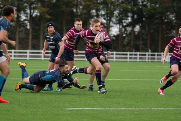 Shelfords Charlie Parkhouse in action against Guildford. Picture: Cat Goryn