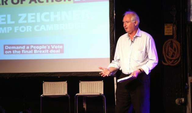 Cambridge MP Daniel Zeichner speaking at the Peoples Vote rally at The Junction. Picture: Richard Marsham