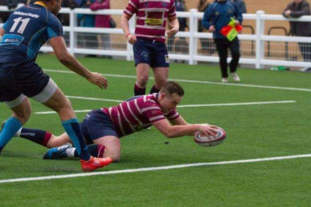 Shelfords Josh Simmons scored a try against Guernsey. Picture: Cat Goryn