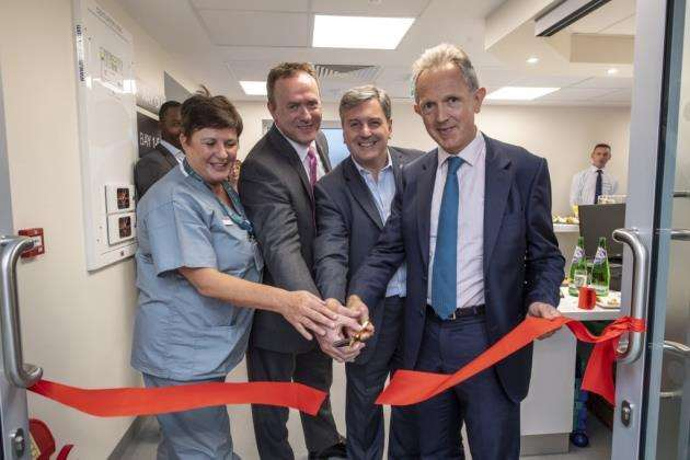 Spire Cambridge Lea Hospitals new £7m endoscopy unit is opened by, from left, Sue White, Neil MCcullough, Michael Gaunt, Justin Ash CEO at Spire Health Care. Picture: Keith Heppell