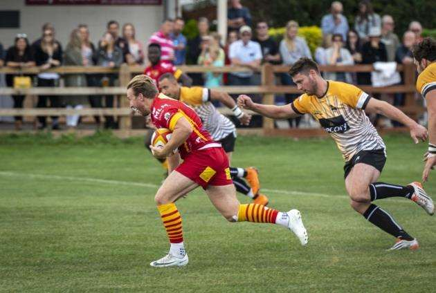 Mike Ayrton in action for Cambridge against Chinnor. Picture: Keith Heppell