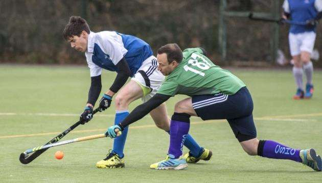 Cambridge Nomads II in action against Cambridge South II. Picture: Keith Heppell.