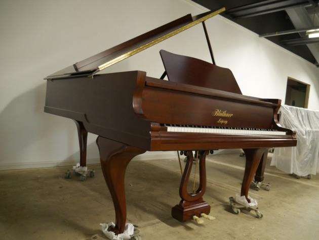 Quite Greats Bluthner piano taken as payment for work with a resoration firm
