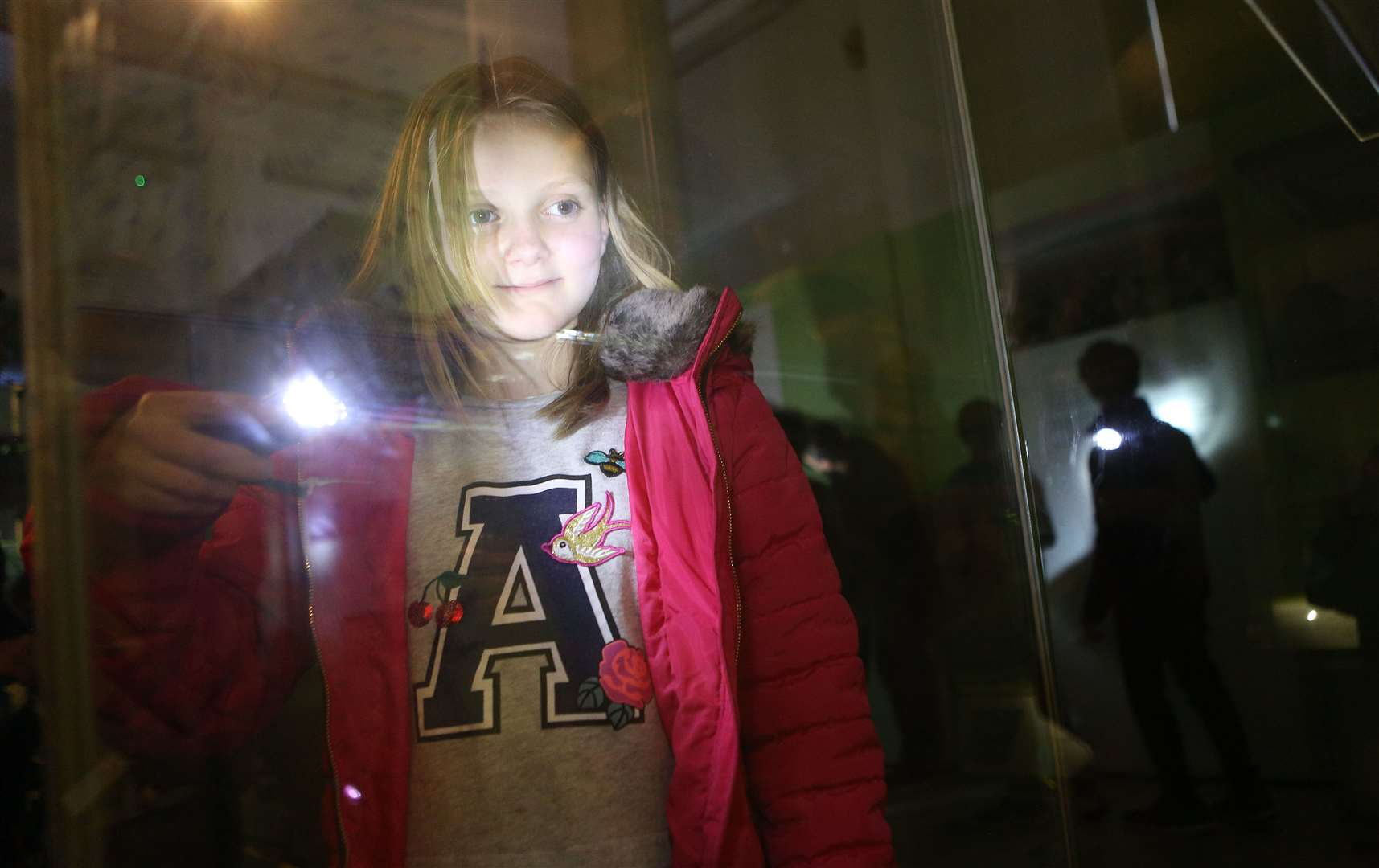 Twilight at the Museums: Alice Millward, 11 at the Museum of Archaeology and Anthropology. Picture: Richard Marsham