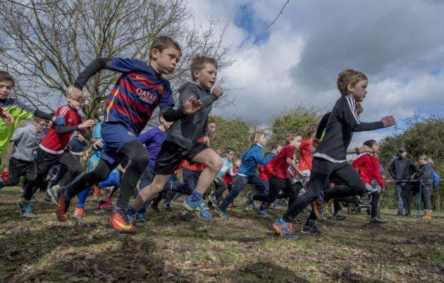 Cambs School Sports Partnership Cross Country finals, Milton Country Park . Picture: Keith Heppell