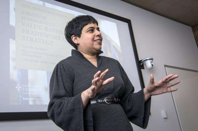 Sucheta Nadkarni delivers a lecture. Picture: Keith Heppell