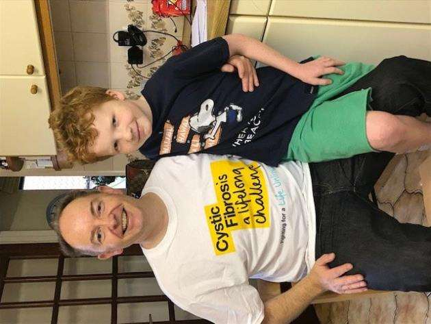 Colin Jones, managing partner of Hewitsons, with his son William, who has cystic fibrosis