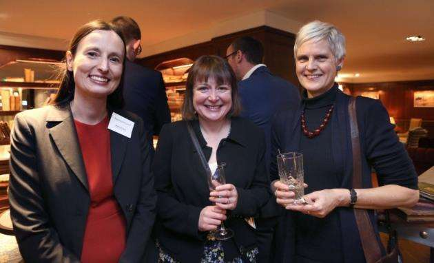 From left, Barbara Fleck, Jennifer Delaney and Miranda Weston-Smith at Appleyard Lees reception to mark a year in Cambridge. Picture: Richard Marsham
