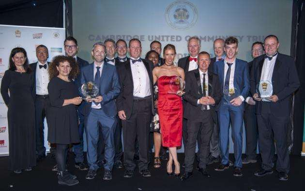 Cambridge United Community Trust Gala Dinner, featuring Sport in the Community Awards, Quy Mill Hotel & Spa, Cambridge the award winners and sponsors. Picture: Keith Heppell