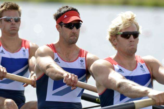 Tom James in the mens coxless four at the 2012 London Olympics. Picture: Peter Spurrier/Intersport Images