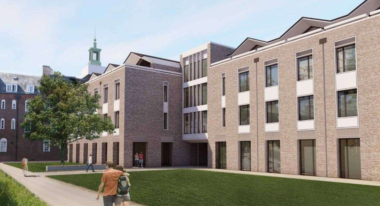 An artist's impression of the Christ's College development. Picture: BGS Architects / Christ\'s College (11075166)