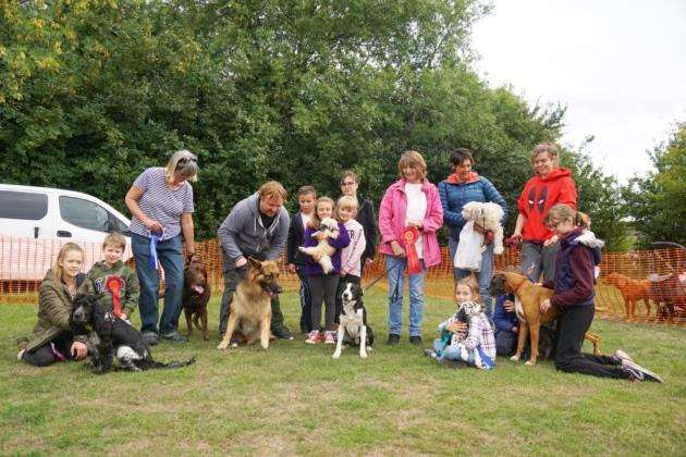 The finalists in the dog show at Cambourne Fete 2018, with their owners. Picture: Paul Brackley