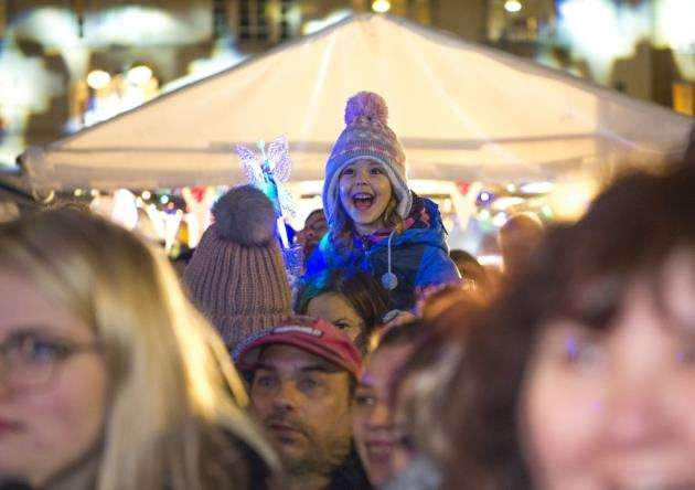 The switch-on in Cambridge attracts hundreds of families. Picture: Keith Heppell