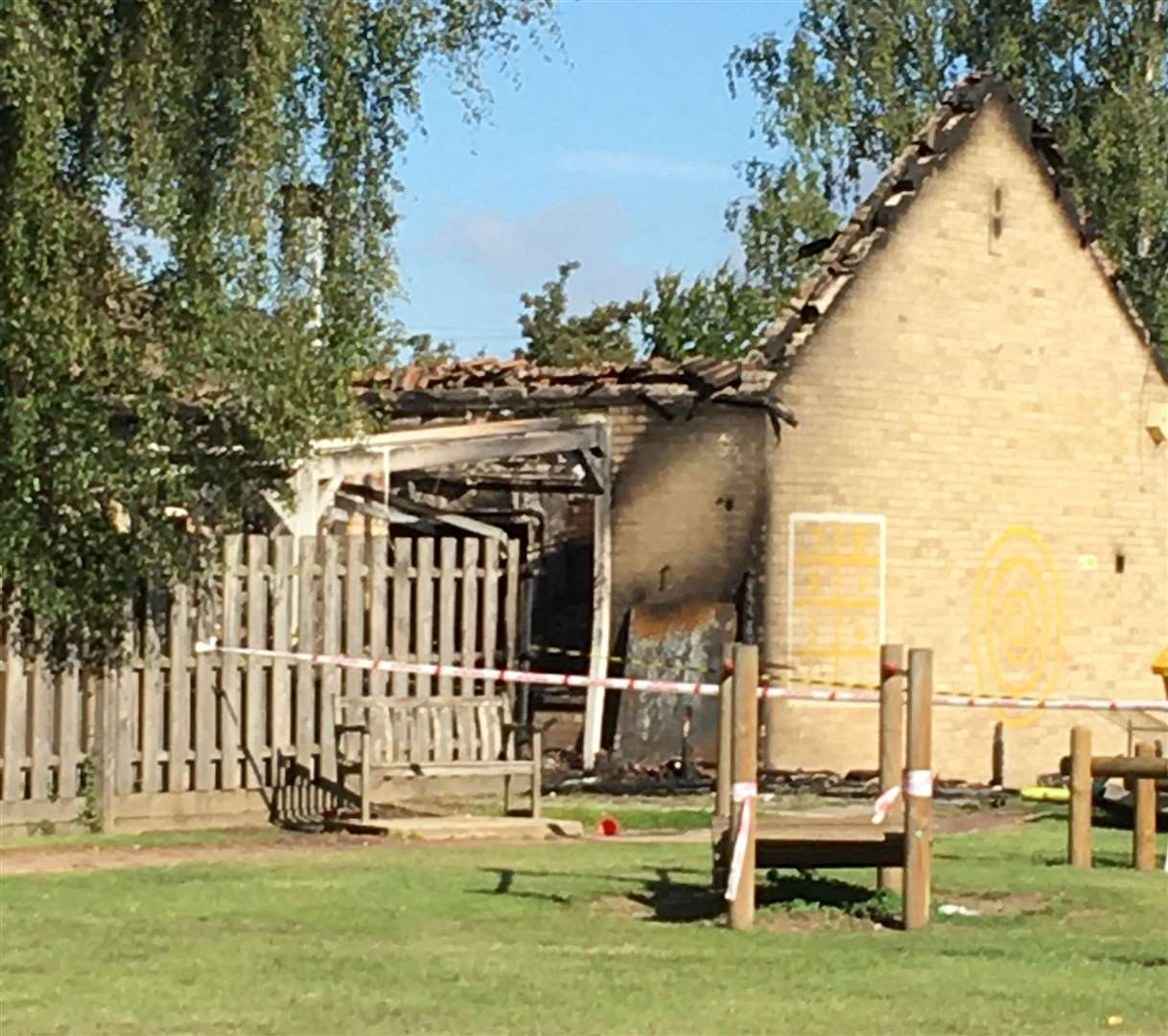 The aftermath of the fire at Duxford Community Primary School. Picture: Barbara Barker (39667390)