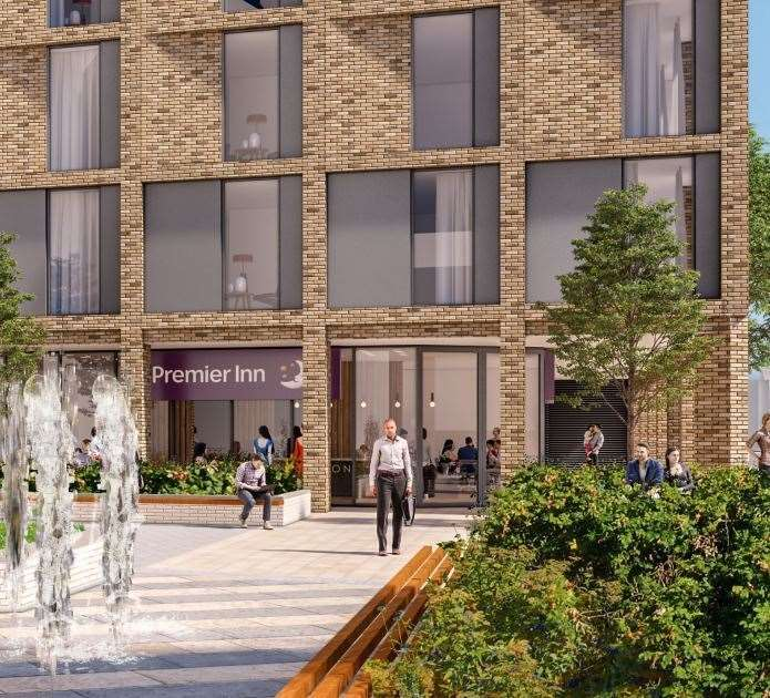 Artist impression Premier Inn by Grafton Centre Copyright: Corstorphine + Wright Architects /Legal and General Investments / Wrenbridge. (20585778)