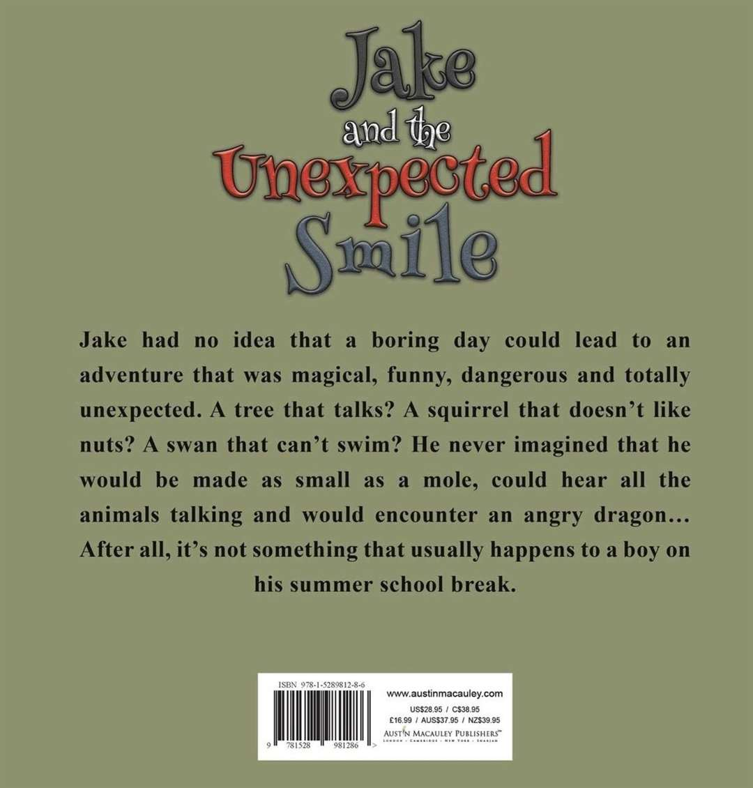Kim Temple's book, 'Jake and the Unexpected Smile'