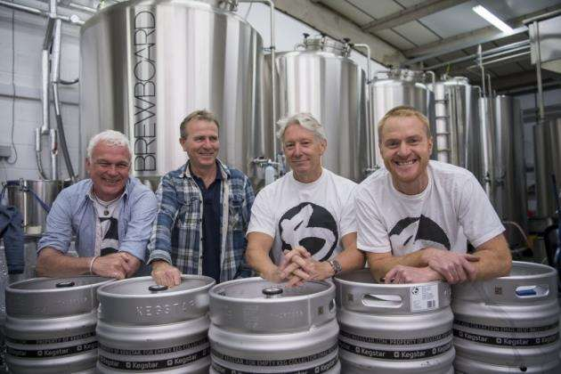 From left, Nick Davis, Stuart Chambers, Paul Archer and Oliver Pugh at BrewBoard in Harston. Picture: Keith Heppell