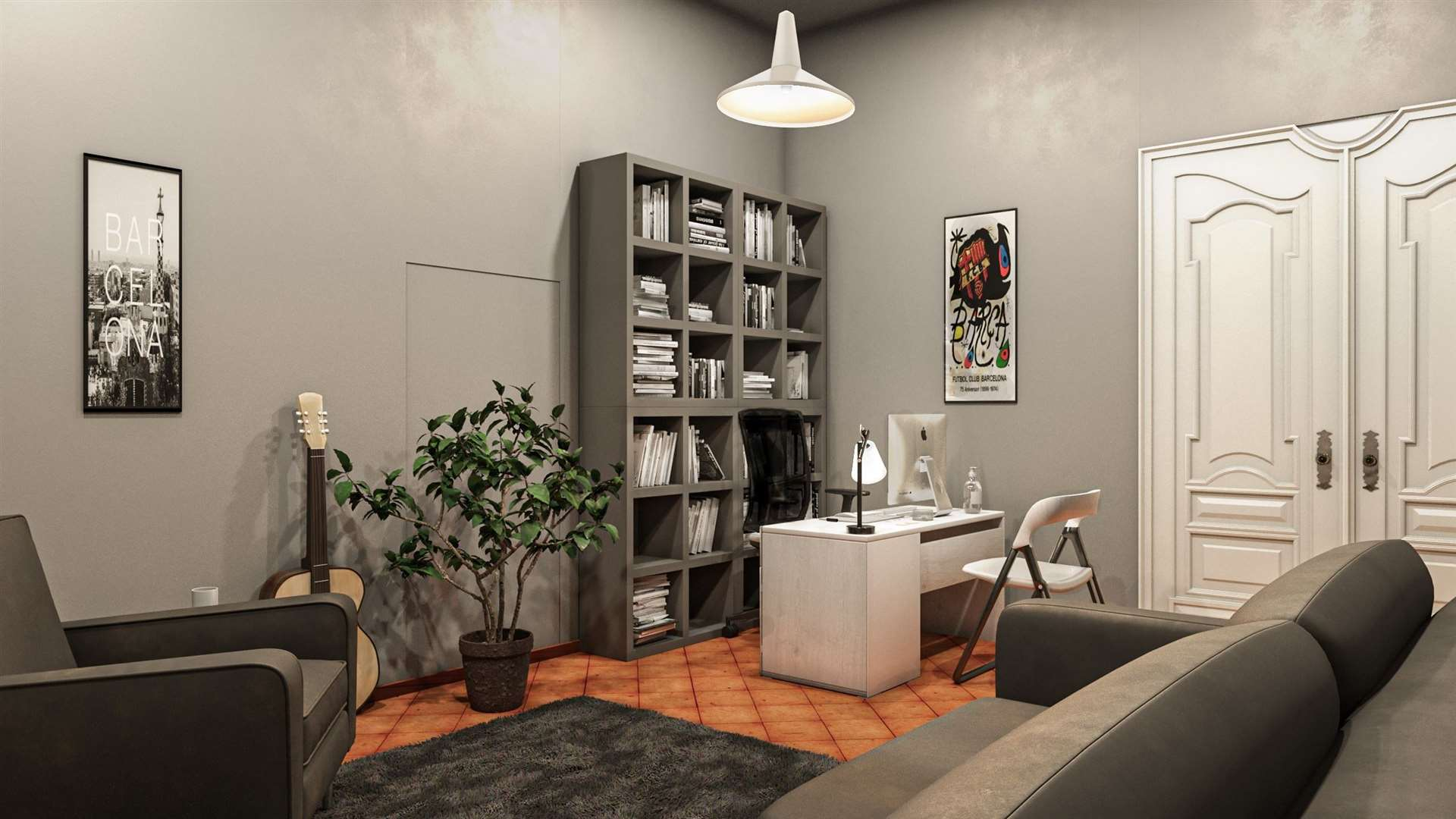A visual for one of the rooms being created in Barcelona under the Homeless Entrepreneur project