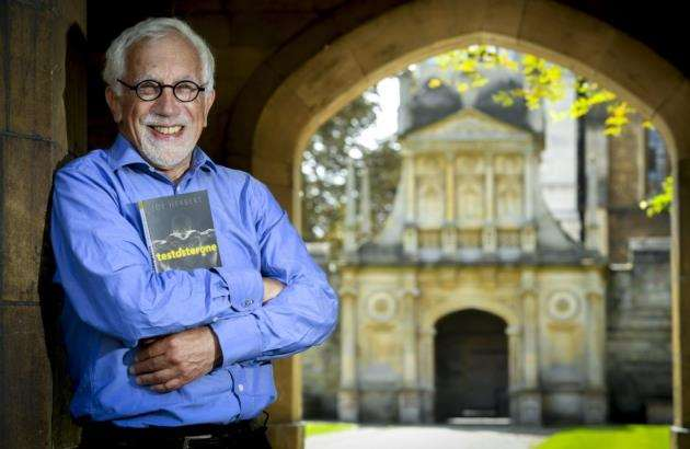 Professor Joe Herbert with his new book at Gonville and Caius College, University of Cambridge. Picture: Keith Heppell