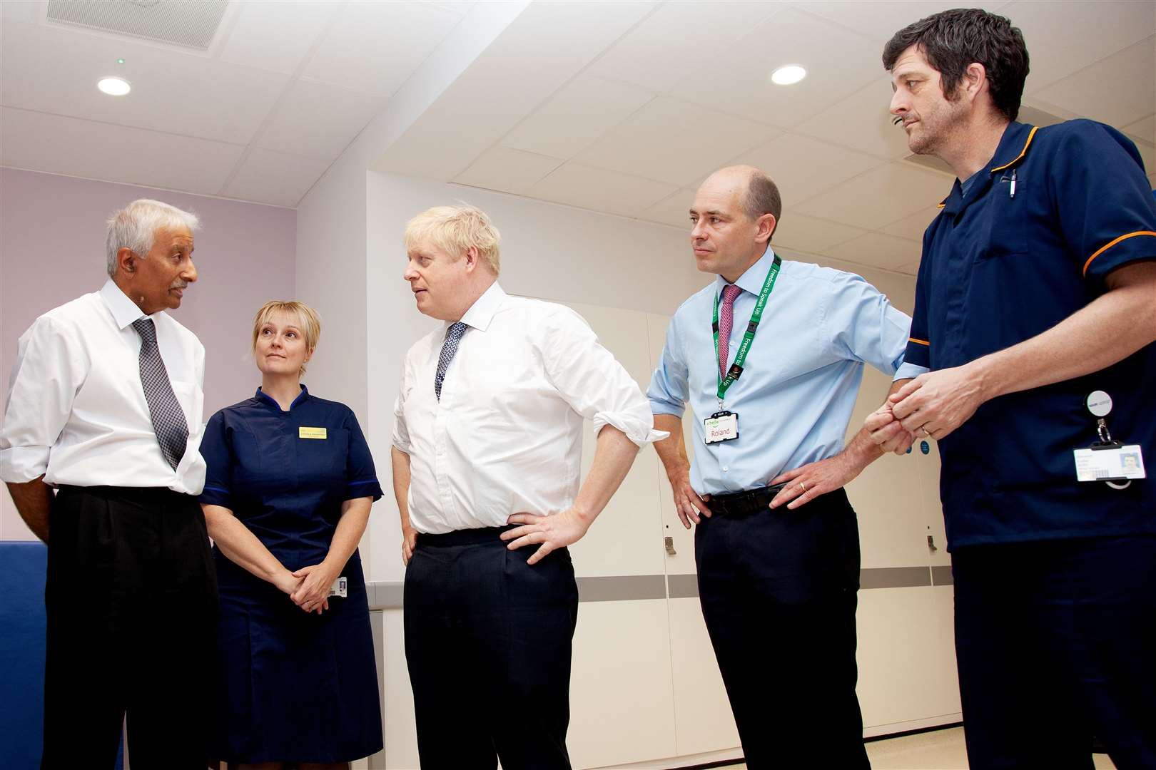 Prime Minister Boris Johnson visits Addenbrooke's Hospital. Picture supplied by Cambridge University Hospitals Trust (20584242)