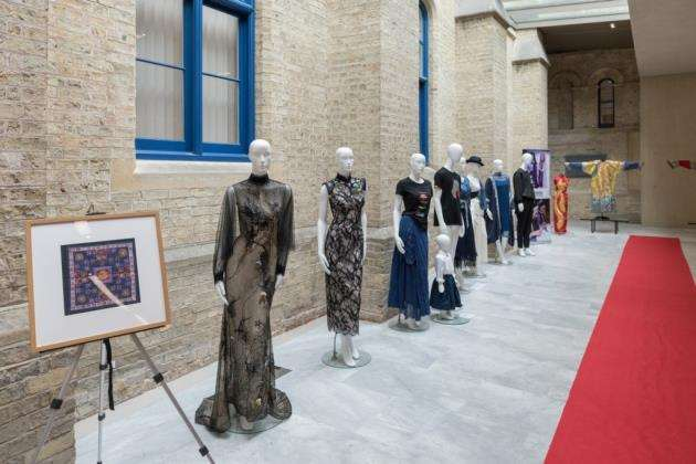 Fashion statements outside the Cambridge Judge Business School looked at the changing dynamics of fashion in China