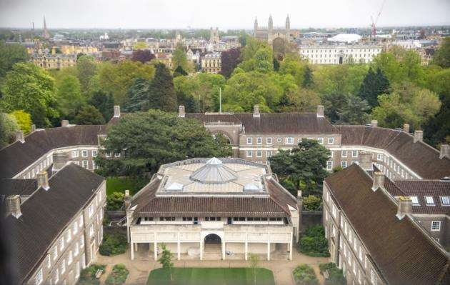 The view from near the top of Cambridge University Library Tower. Picture: Keith Heppell