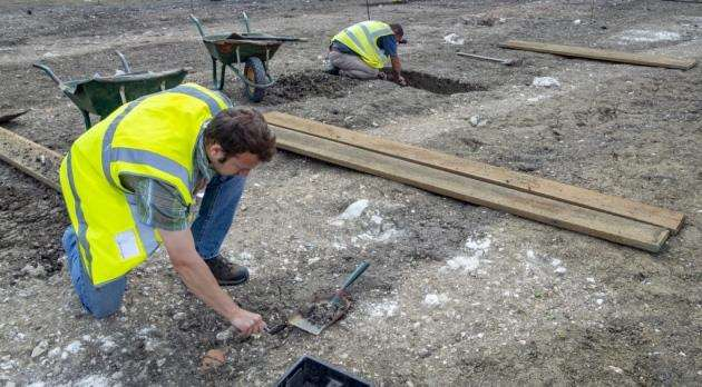 Eddington archaeological dig. Picture: Keith Heppell