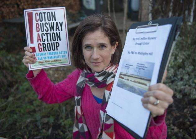 Amanda Fuller - Coton Busway Action Group. Picture: Keith Heppell