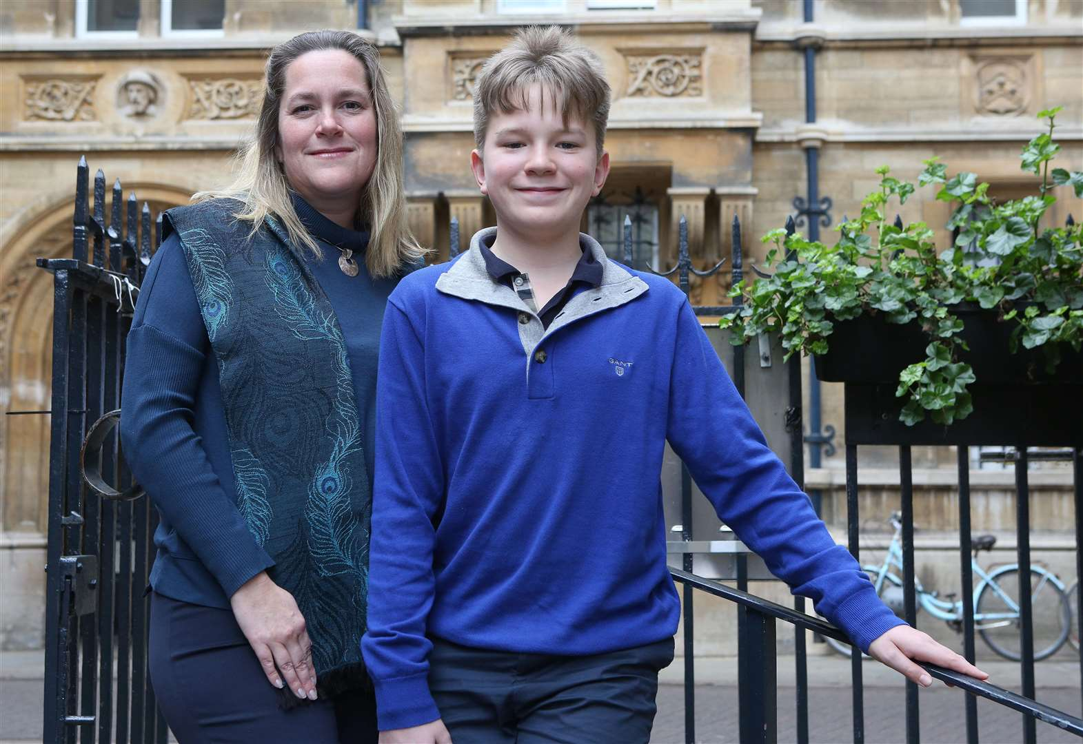 Award winning child author, Jona David, 13, picture with his mum, Prof. Marie-Claire Cordonier Segger..Pic - Richard Marsham. (7483511)