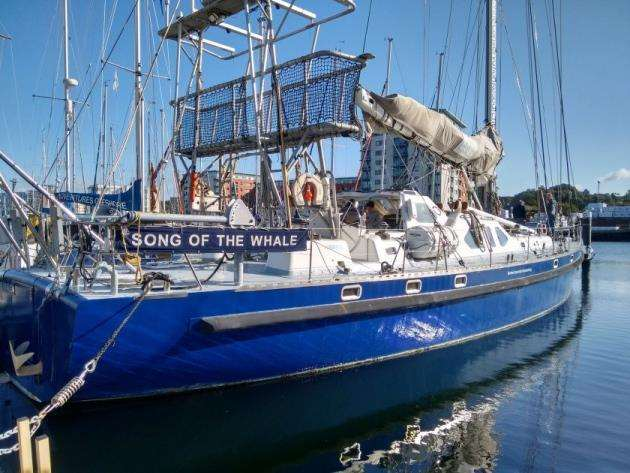 The BAS research vessel Song of the Whale. Picture: Susannah Calderan / BAS