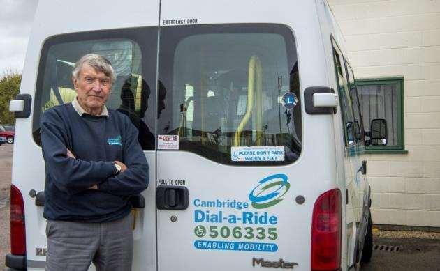 Alan Edwards of Dial a Ride, Cambridge. The transport charity has been saved at the 11th hour. Picture: Keith Heppell
