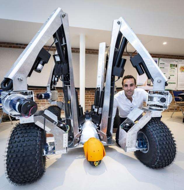 Sam Watson Jones, co-founder of Small Robot Company, at the REAP Conference 2018 launch for Harry. Picture: Keith Heppell
