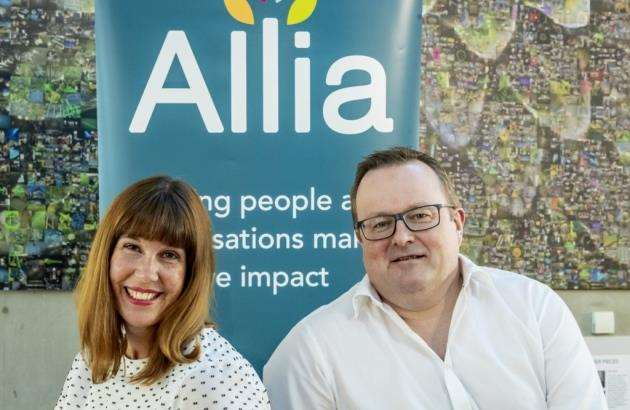 Allia is sponsoring Cleantech Company of the Year. Pictured are Caroline Hyde, MD of Allia, with Paul Hughes, Allias director of enterprise support. Picture: Keith Heppell