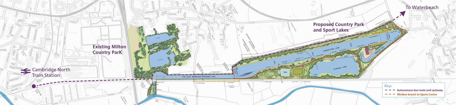 Cambridge Country Park and Sport Lakes proposal plan (43323911)