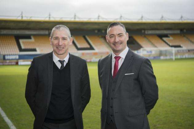Cambridge United CEO Jez George (left) and Iliffe Media managing director Ricky Allan. Picture: Keith Heppell
