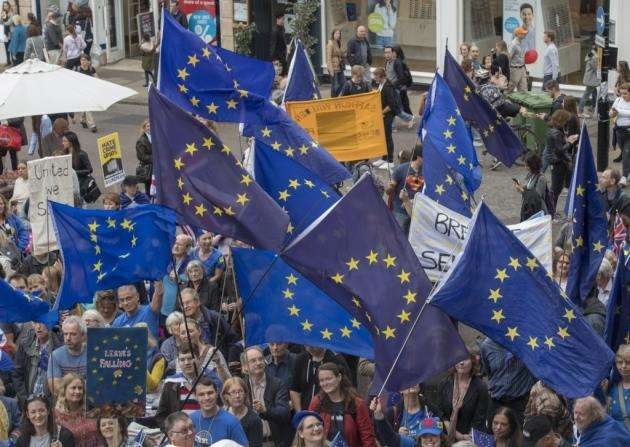 Brexit Rally, The Guildhall, Cambridge. Picture: Keith Heppell