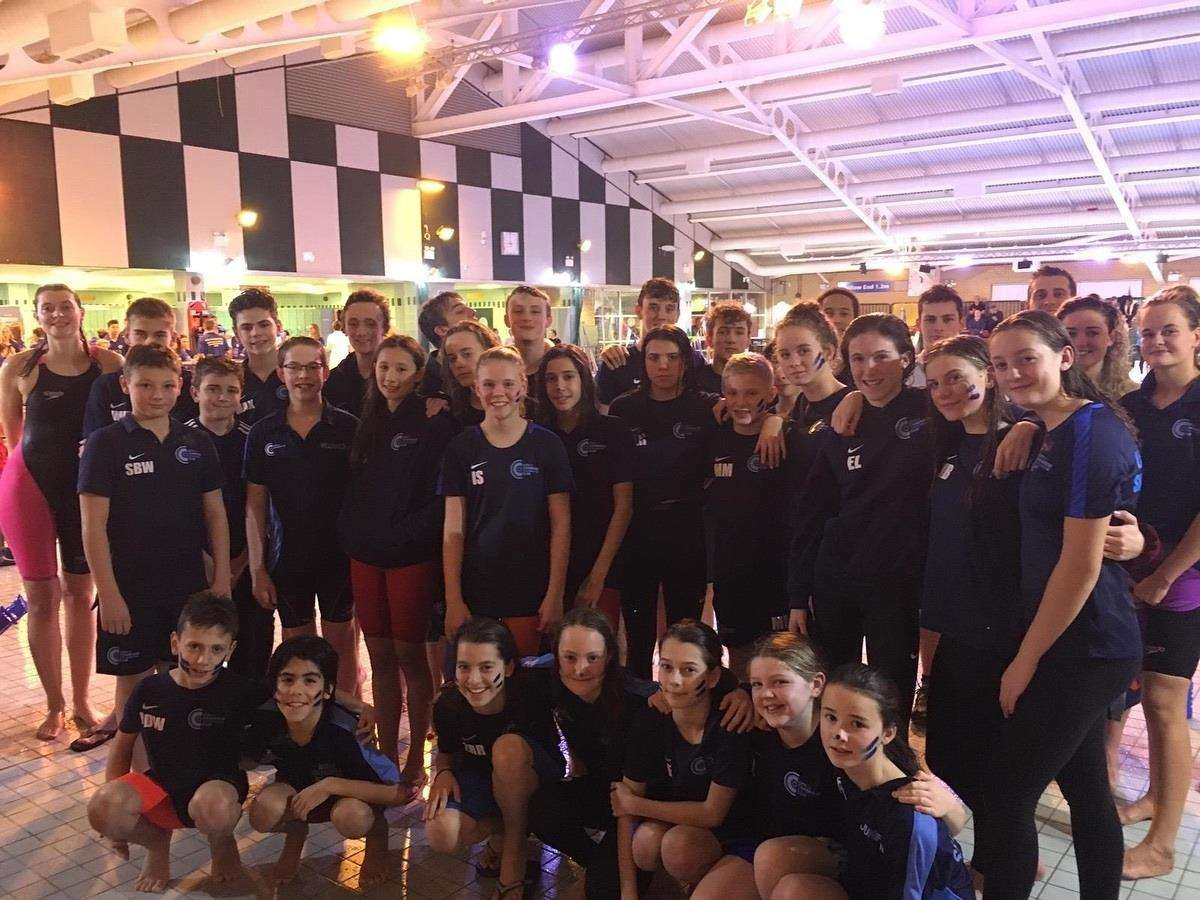 City of Cambridge Swimming Club's B team celebrates promotion to the Premier Division of the East Midlands region of the National Arena League (6093002)