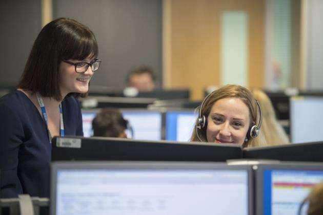 Addenbrookes Hospital - contact centre, call centre manager Leah Marsh . Picture: Keith Heppell